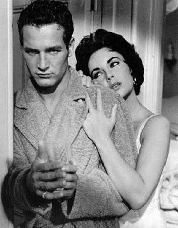Paul Newman and Elizabeth Taylor in the 1958