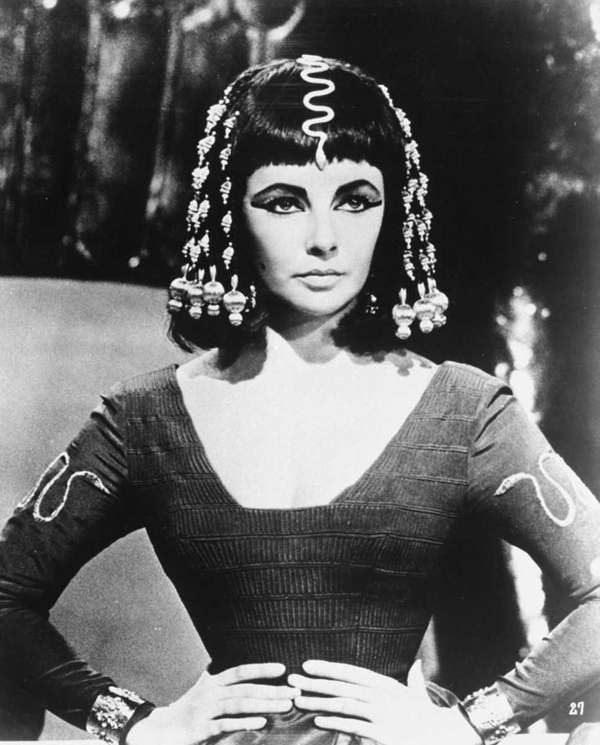 "Elizabeth Taylor in the 1963 film ""Cleopatra."""