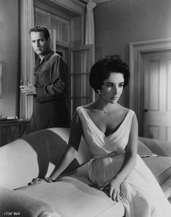 Elizabeth Taylor and Paul Newman in 1958's