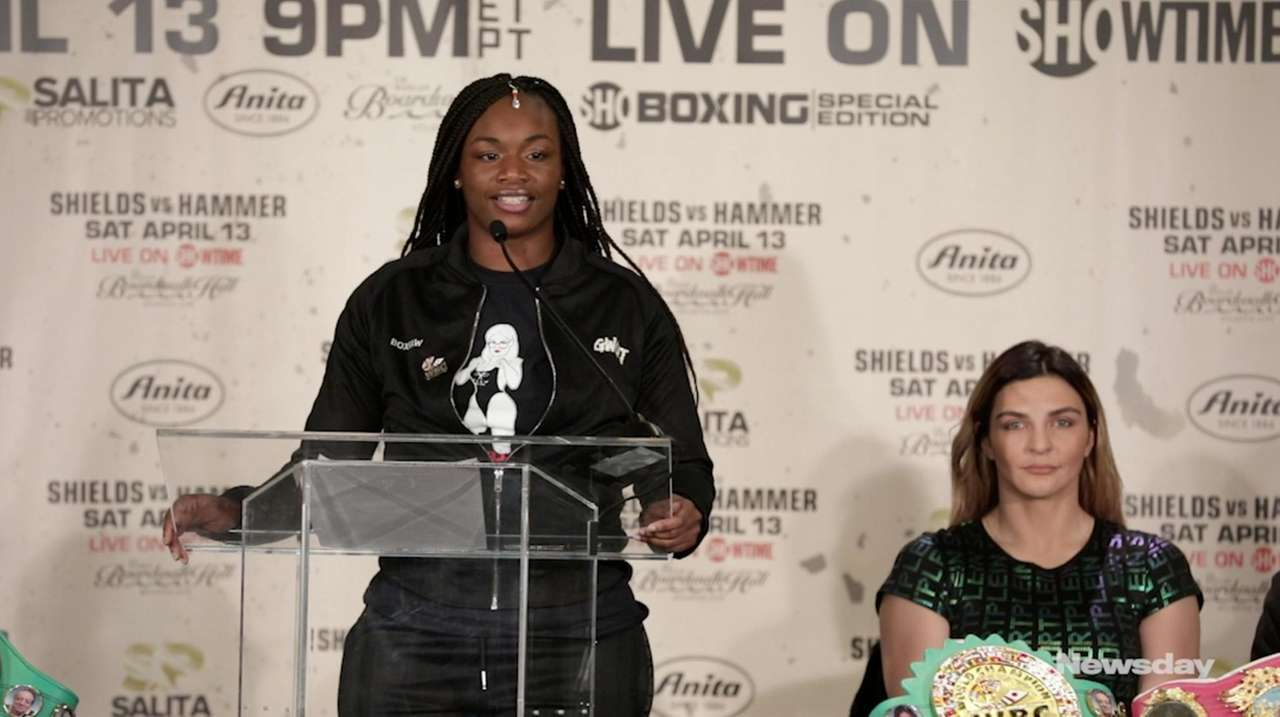 Undefeated middleweight champions Claressa Shields and Christina Hammer