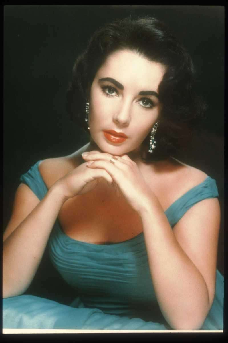 Actress Elizabeth Taylor poses in an old film