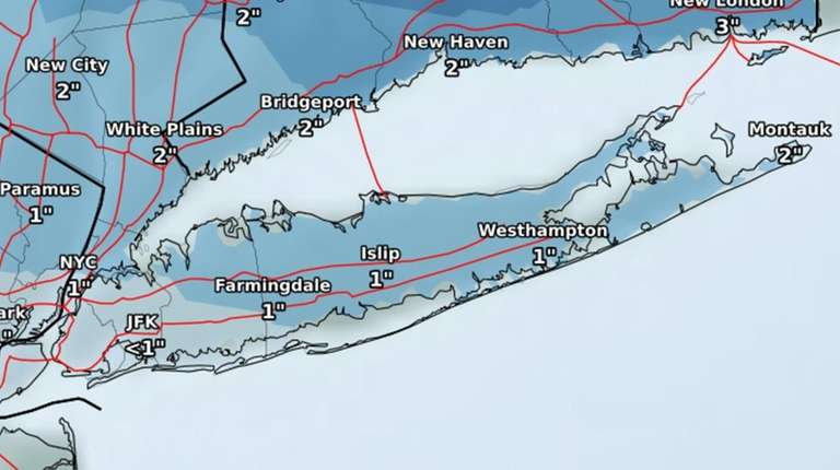 Long Island Weather Light Snow To Move In After P M Commute