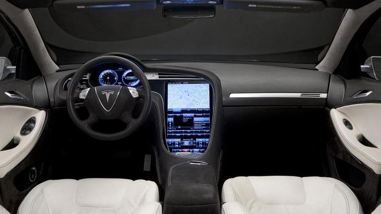 2012 Tesla S interior.