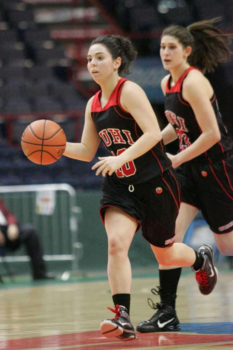 Long Island Lutheran's Christina Raiti brings the ball