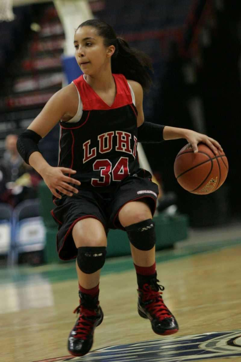 Long Island Lutheran's Lauren Brozoski handles the ball