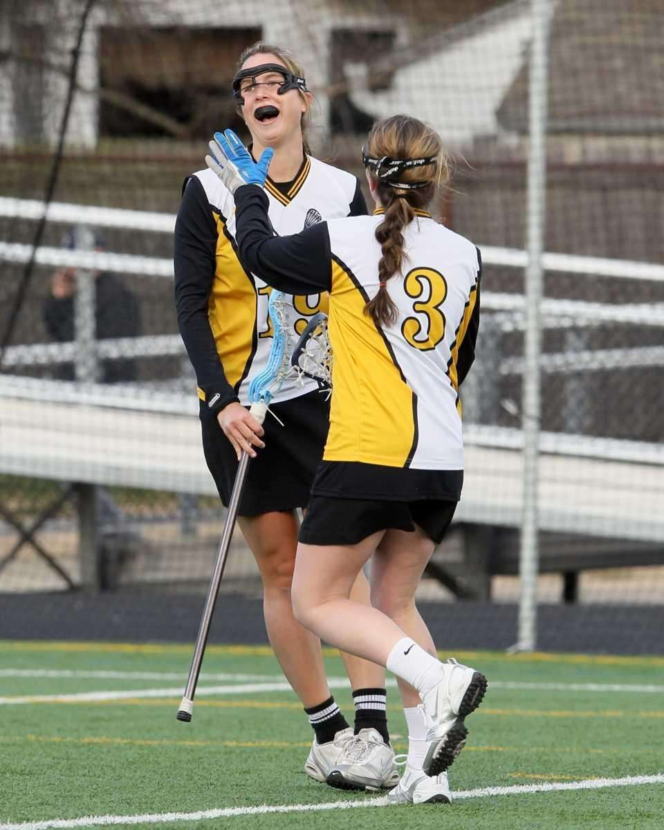 Paula Schmidt #19 of Wantagh celebrates a goal