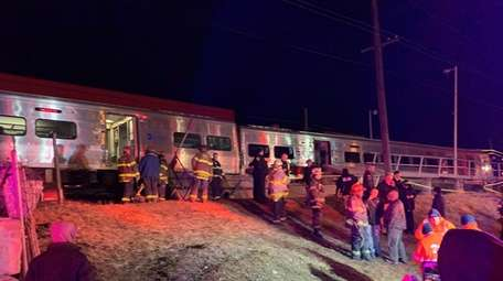Fire departments respond to the Long Island Rail