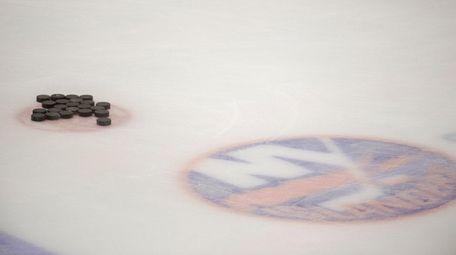 The Islanders' practice ice at Northwell Health Ice