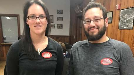 Patchogue residents Tiffany Bowman and Dan Penberg are
