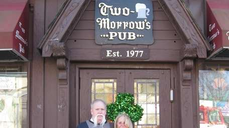 Bob and Sheila Morrow stand in front of