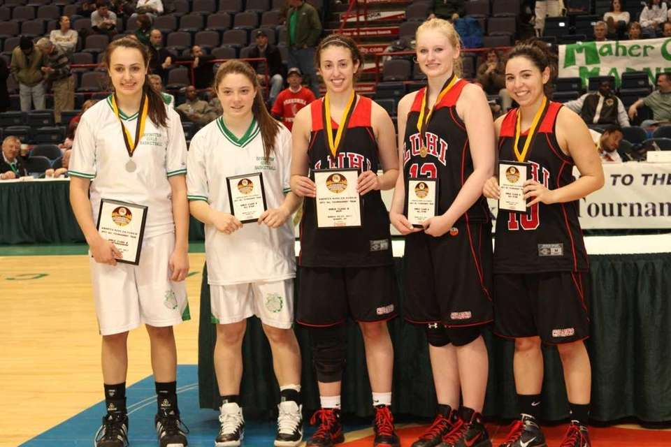 Long Island Lutheran's Paige Kriftcher, Samantha Milhaven and
