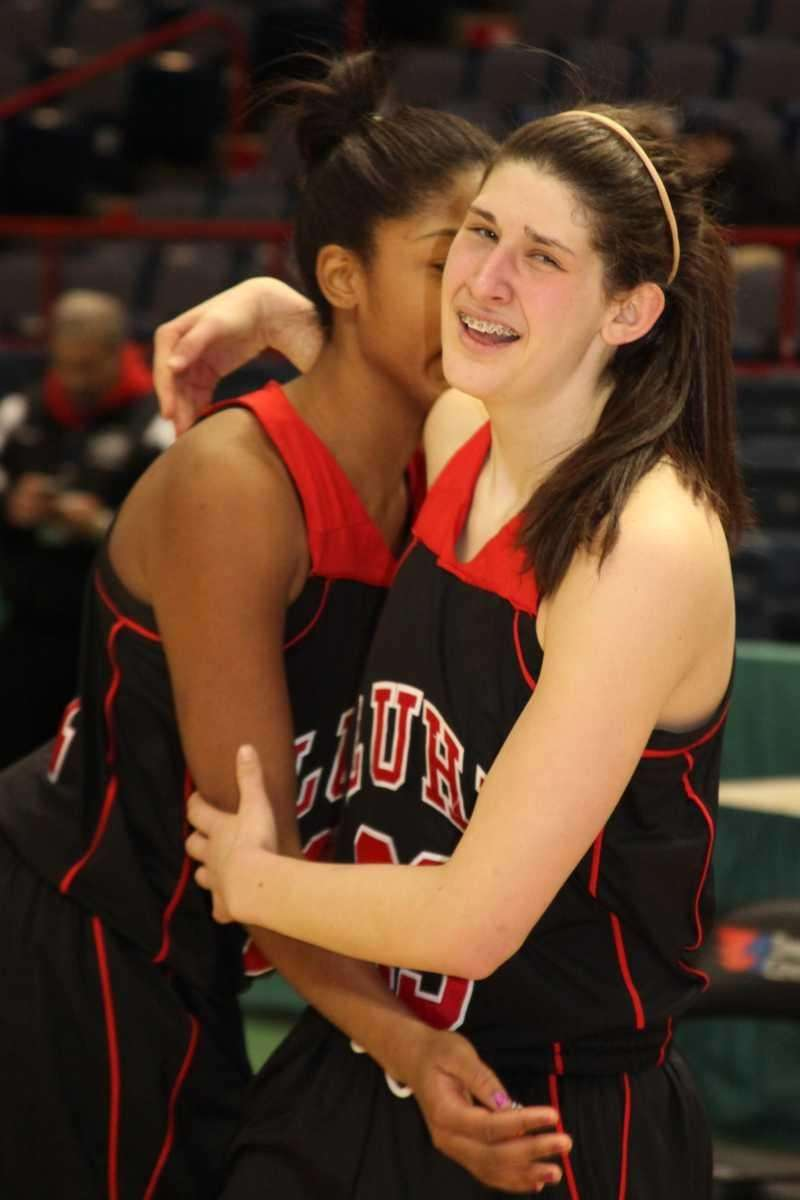 Long Island Lutheran's Yuni Sher and Sade Gibbons