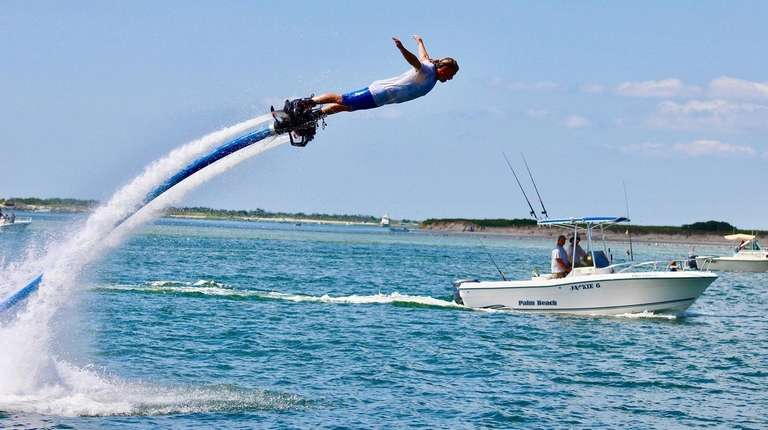 Flyboarding is a fun and exciting way to