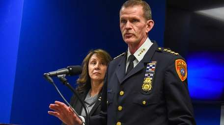 Suffolk Police Chief of Department Stuart Cameron speaks