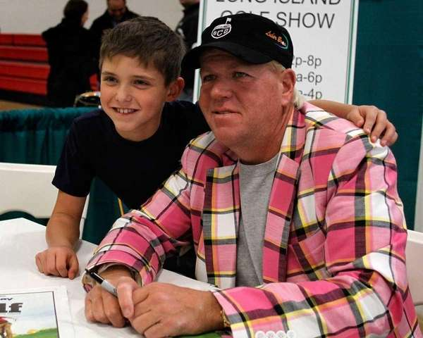 Pro golfer John Daly made an appearance, Saturday,