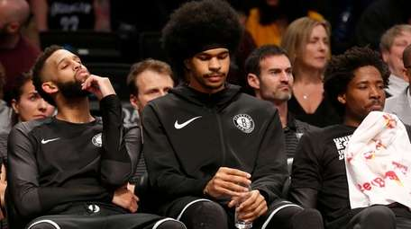 From left, Allen Crabbe, Jarrett Allen and Ed