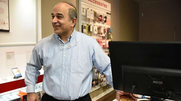 David Kadosh, owner of the Verizon Wireless store