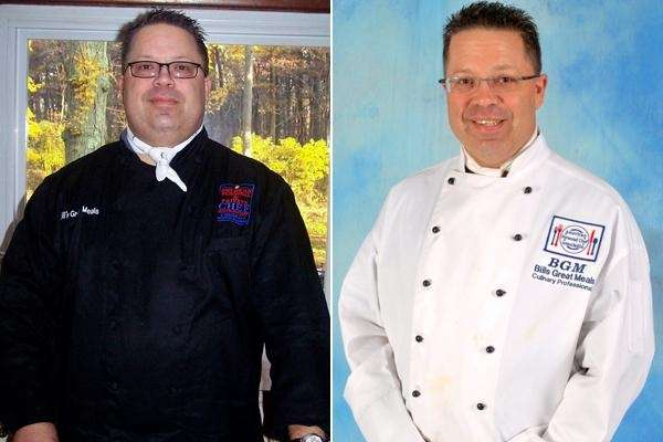 Bill McCabe of Hauppage went from 255 pounds,