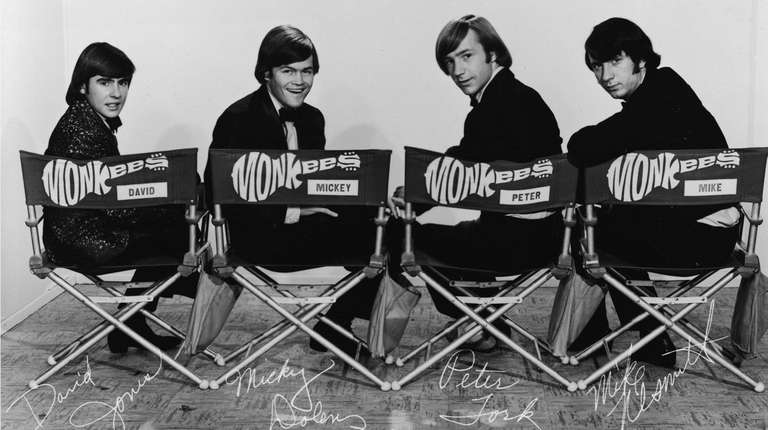 The Monkees, dressed in tuxedos. From left, Davy