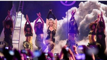 Britney Spears performs onstage at the Bill Graham