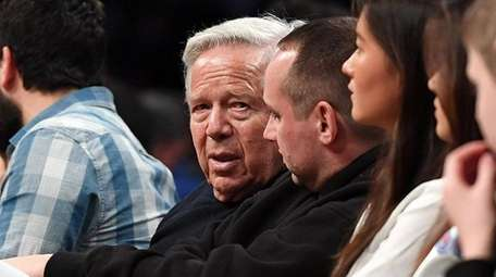 Patriots owner Robert Kraft watches a game at