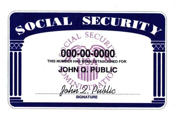 Social Security card (Credit: HANDOUT -SAVE/Handout)