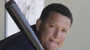 Detroit Tigers first baseman Miguel Cabrera sits in