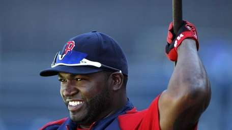 Boston Red Sox designated hitter David Ortiz loosens