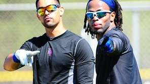 Jose Reyes (R) and Angel Pagan (L).