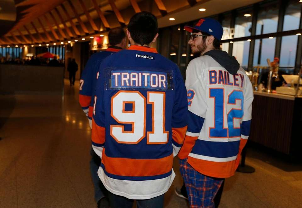 New York Islanders fans arrive for a game
