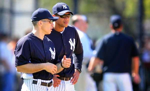 Yankees manager Joe Girardi and third baseman Alex