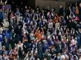 Fans cheer an New York Islanders goal in