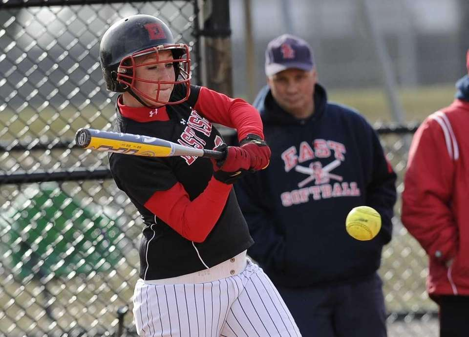East Islip's Elizabeth Hand hits against Smithtown East