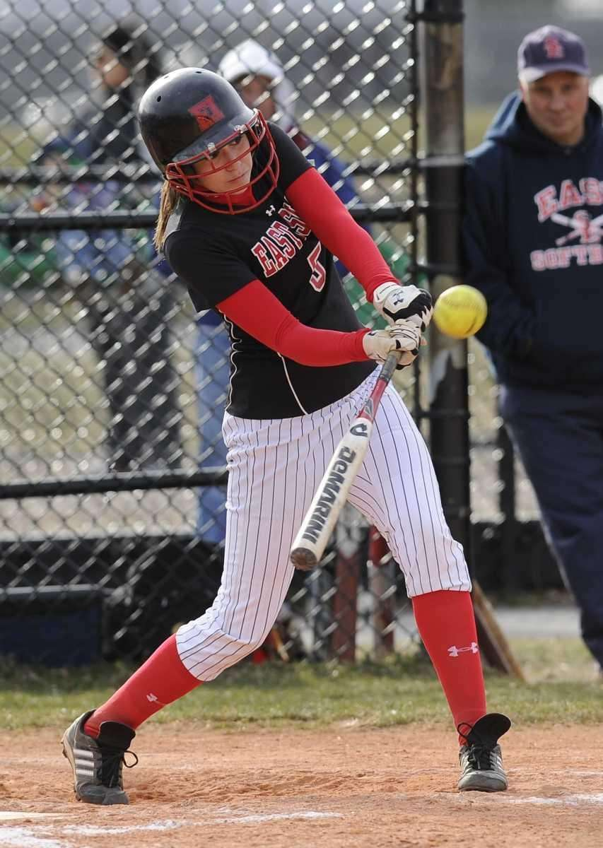 East Islip's Courtney Blake hits a single against