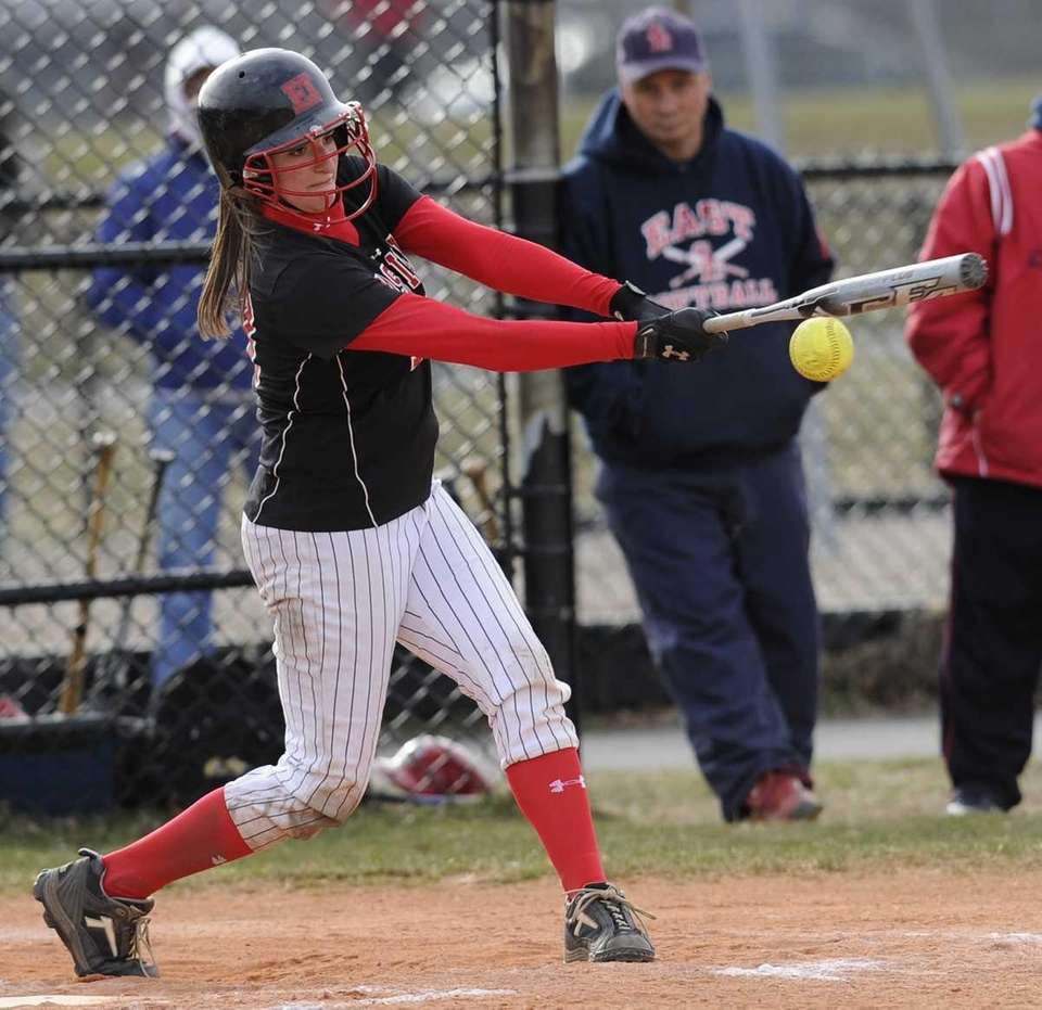 East Islip's Faith Padro hits against Smithtown East