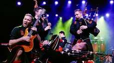 The Red Hot Chilli Pipers plays Irish-themed rock.