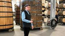 Brewmaster Phil Markowski inside Area 2, the new