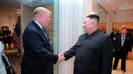 President Donald Trump and North Korean leader Kim