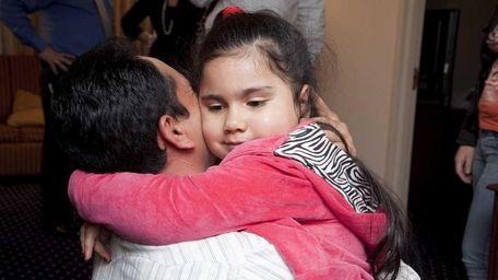 Emily Ruiz, a 4-year-old U.S. citizen, has returned