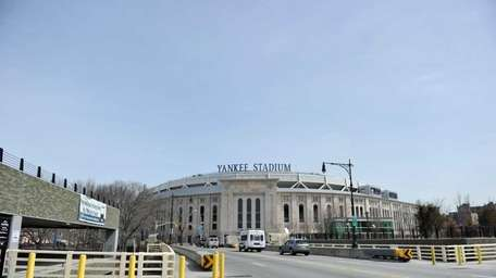 A view of Yankee Stadium from the front