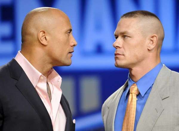 "Actor and fromer WWE supestar Dwayne ""The Rock"""