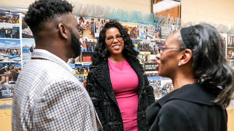 Ilyasah Shabazz, center, daughter of famed civil rights