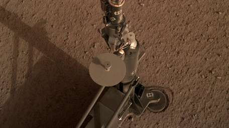 A photo shot by NASA's InSight Mars lander