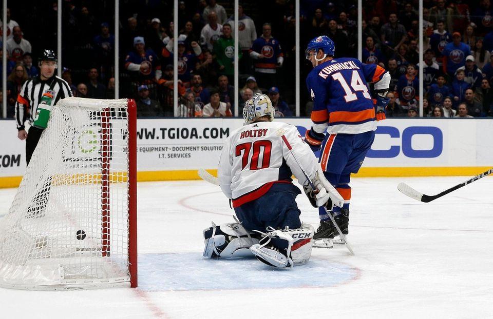 Tom Kuhnhackl #14 of the New York Islanders