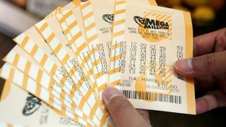 An undated file photo of Mega Millions lottery