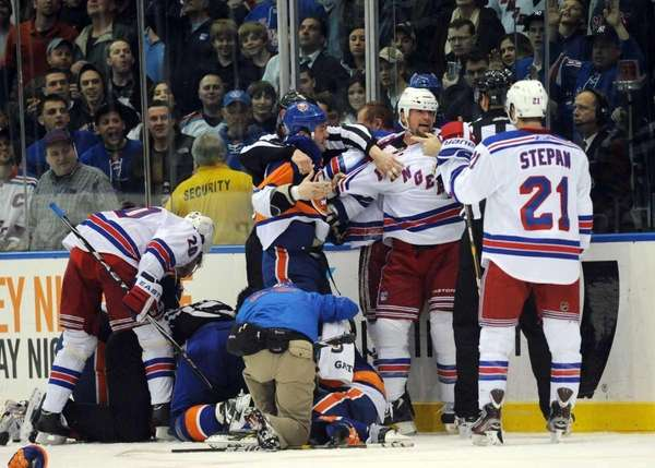 The New York Rangers and New York Islanders