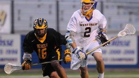 West Islip's Conor Braddish, right, leads a talented
