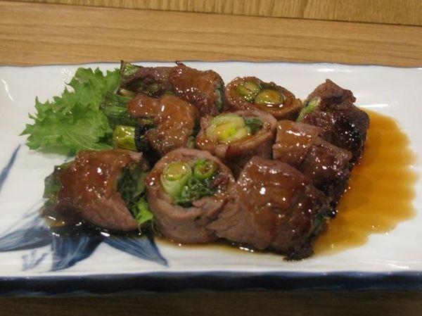 Negiya-maki (grilled beef-scallion roll) at Yamaguchi in Port
