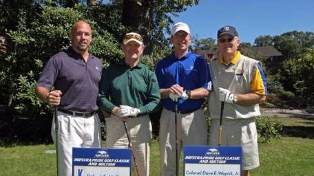 At 2010 Hofstra Pride Golf Outing, from left: