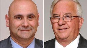 Suffolk County Legis. Rudy Sunderman, left, and Suffolk